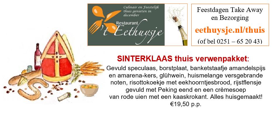 Bestel het Sint pakket via eethuysje.nl/thuis