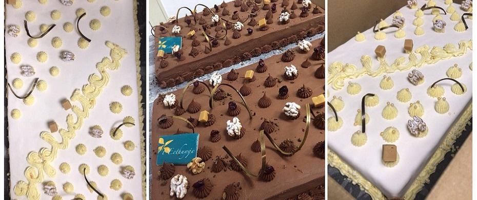 Iets te vieren? Bestel een heerlijke feestelijke taart! Zie meer informatie onder:     Nieuws >> Culinaire agenda